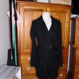 Forever 21 Long Belted Black Trench Coat